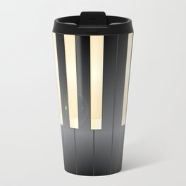 White And Black Piano Keys Travel Mug