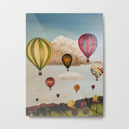 Hot Air Balloons Over New Mexico Metal Print
