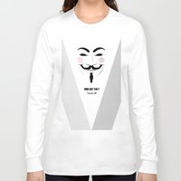 anonymous Long Sleeve T-shirts featuring Anonymous by Nena Loca