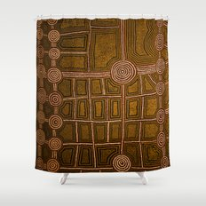 Aboriginal background Shower Curtain