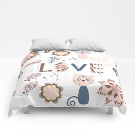 Cats pattern 4 Comforters
