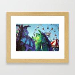 Wonders just past the Dragons Framed Art Print