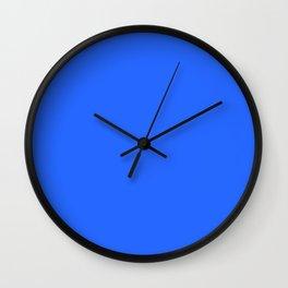 Ultra Marine Blue Solid Color Block Wall Clock