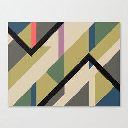 Modernist Dazzle Ship Camouflage Design Canvas Print