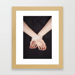 Tied with pearls Framed Art Print