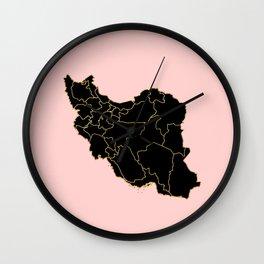 Iran map Wall Clock