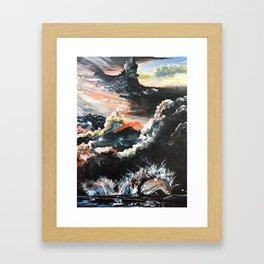 Chicago Bean At Edge Of Storm Framed Art Print