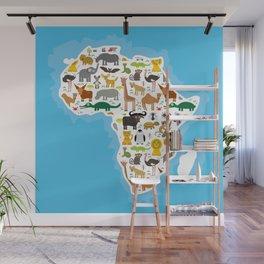 Animal Africa: parrot Hyena Rhinoceros Zebra Hippopotamus Crocodile Turtle Elephant Mamba snake Wall Mural