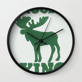 Moose Xing Wall Clock