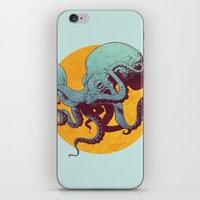octopus iPhone & iPod Skins featuring Octopus by Calavera
