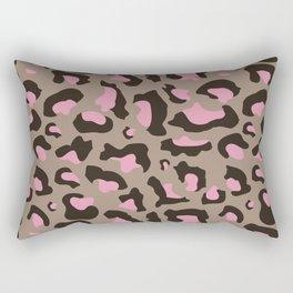 Rose Сheetah pattern Rectangular Pillow