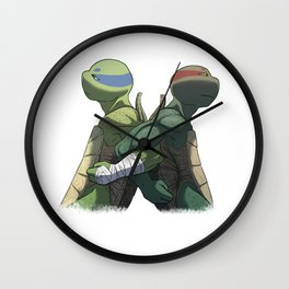 Leonardo and Raphael Wall Clock