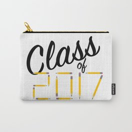 Class of Pencils 2017 Black Font Carry-All Pouch