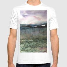 Alaska Sky and Sea MEDIUM White Mens Fitted Tee