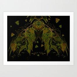 Leaves V1 Art Print