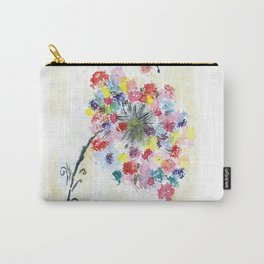 Dandelion watercolor illustration, rainbow colors, summer, free, painting Carry-All Pouch