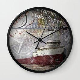 Edmund Fitzgerald Wall Clock