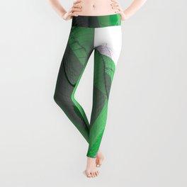 Waving Math Surface Green Leggings