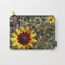 Two Toned Flower Carry-All Pouch