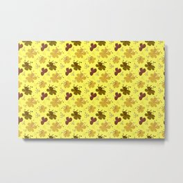 flor amarillo Metal Print