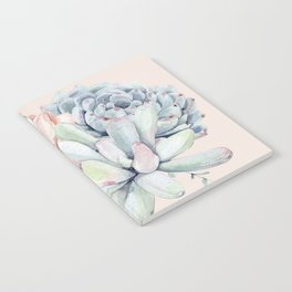 Elegant Blush Pink Succulent Garden by Nature Magick Notebook