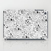 seinfeld iPad Cases featuring Seinfeld Pattern (White Background) by Jamie Leonard