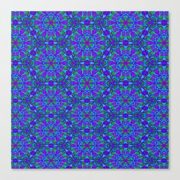 Peacock Color Hexagon 4733 Canvas Print