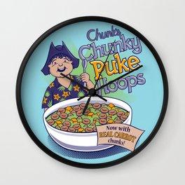 Chunk's Chunky Puke Hoops Wall Clock