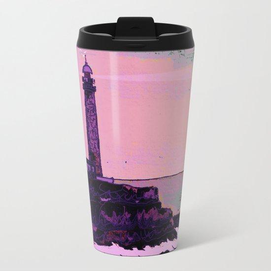 Golden Hours / Lighthouse Barlovento La Palma Metal Travel Mug