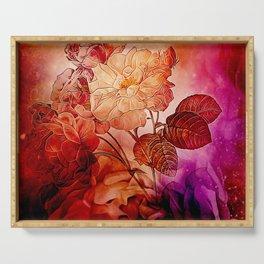 Power flowers, wonderful floral design Serving Tray