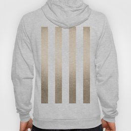Simply Vertical Stripes in White Gold Sands Hoody