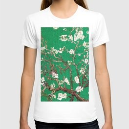 Vincent van Gogh Blossoming Almond Tree (Almond Blossoms) Emerald Sky T-shirt
