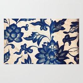 Blue Oriental Vintage Tile 06 Rug
