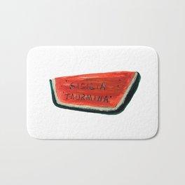 Fan's illustration - Watermelon ceramic in Taormina Sicilia Bath Mat