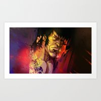 gemma Art Prints featuring Gemma by Smirt