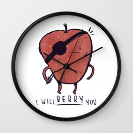 Scary Berry Wall Clock