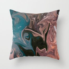 Molten Lava Water Slide Throw Pillow