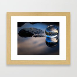 Reflections of Reflections Castle Lake in a crytsal ball photograph Framed Art Print