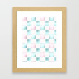 Abstract Chequered Grid Background. Hand Drawn Framed Art Print