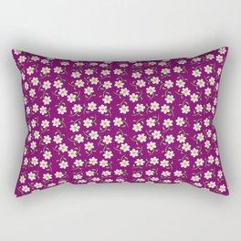 Daisies and Fuschia Pattern Rectangular Pillow