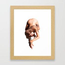 Cat Crawl Framed Art Print