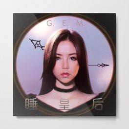 G.E.M. 睡皇后 Queen G Metal Print