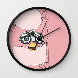 Pink Furby Wall Clock