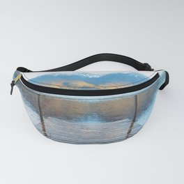Lake reflections watercolor painting #2 Fanny Pack