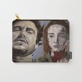 Abigail and Will 2., acrylic painting Carry-All Pouch