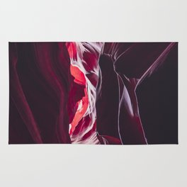 Different shades of red in Antelope Canyon Rug