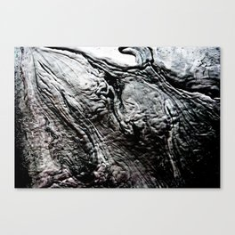 Black Lava Canvas Print