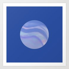 A Circle of Blue Art Print