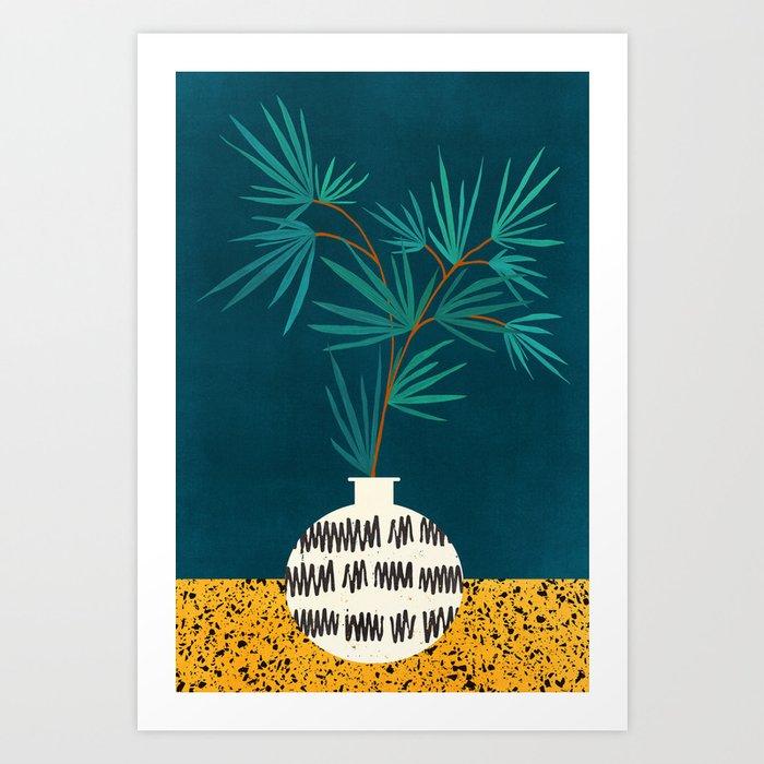 Night Palm / Night Scene Series Art Print
