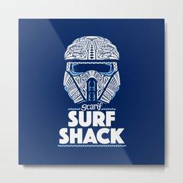 Space Surf Shack Metal Print